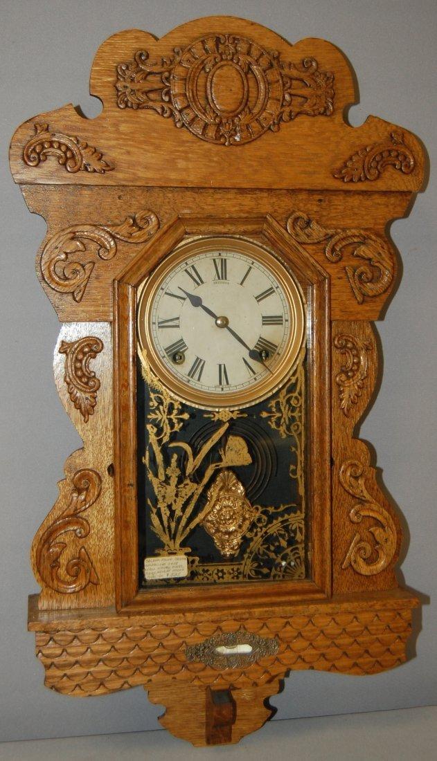 Antique Sessions Oak Hanging Kitchen Clock