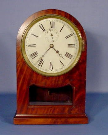 20: Mahogany Veneer Clock w/Time Only Movement