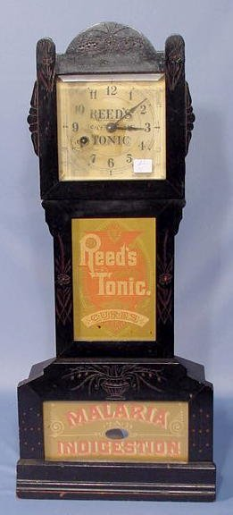 32: Reed's Tonic Advertising Miniature Clock