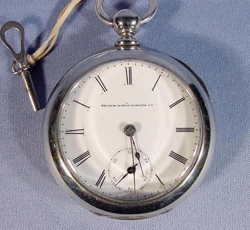 2005B: Elgin Size 18 Key Wind Key Set Pocket Watch