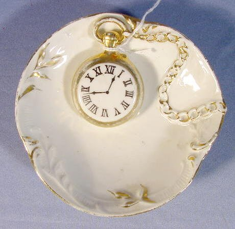 2012B: German China Dish w/a Pocket Watch & Chain