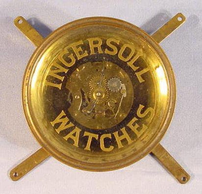 2013: Brass Framed Ingersoll Watches Display