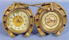 2027B: British United Clock Co. Brass Desk Clock