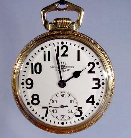 2123: Ball Official Standard Pocket Watch