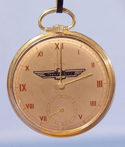 2010A: Elgin Pocket Watch With Thunderbird Emblem