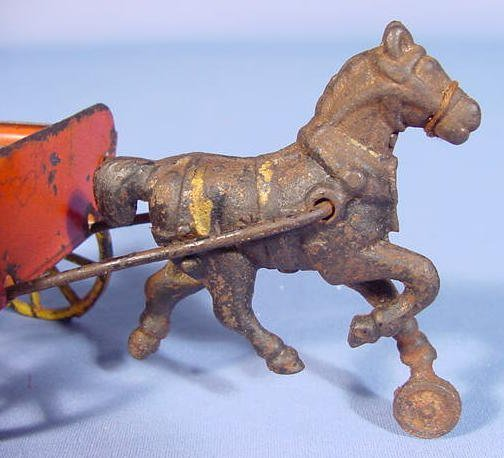 514:  Tin Wagon, Cast Iron Horse Drawn - 3