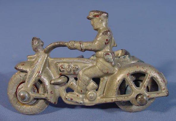 519: Three Cast Iron Toy Motorcycles - 8