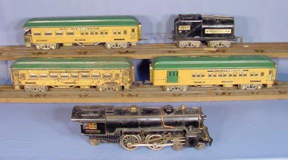828: American Flyer 5pc Train Set w/Some Track