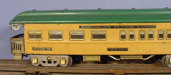828: American Flyer 5pc Train Set w/Some Track - 2