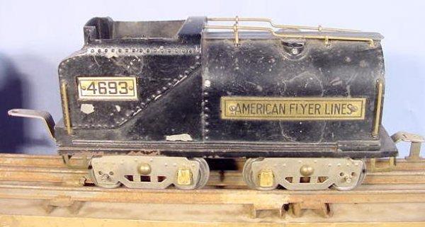 828: American Flyer 5pc Train Set w/Some Track - 3