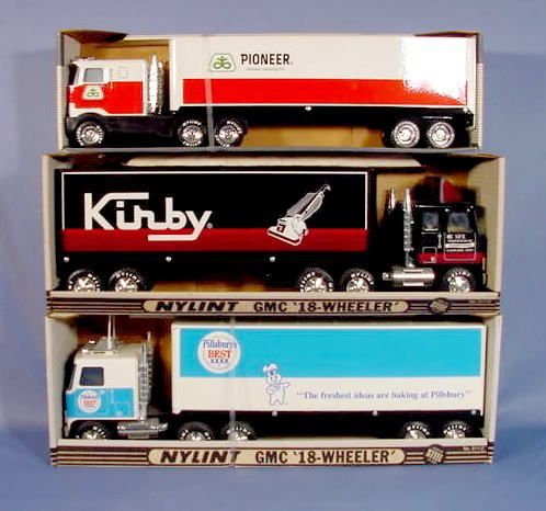 527: 3 Nylint  Advertising Toy Semi Trucks and Trailers