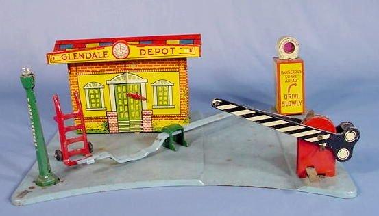 "525: Marx Toy Tin Litho ""Glendale Depot"""