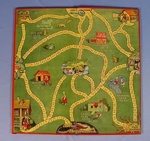 "526: Old Milton Bradley Co. ""Uncle Wiggily"" Game - 3"