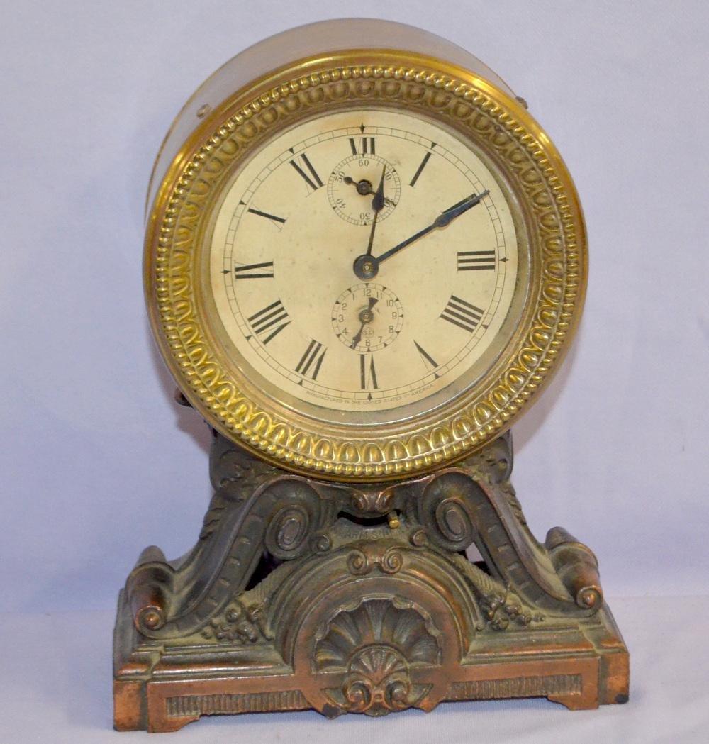 "Antique Seth Thomas ""Long Alarm"" Clock: Bras clock body"
