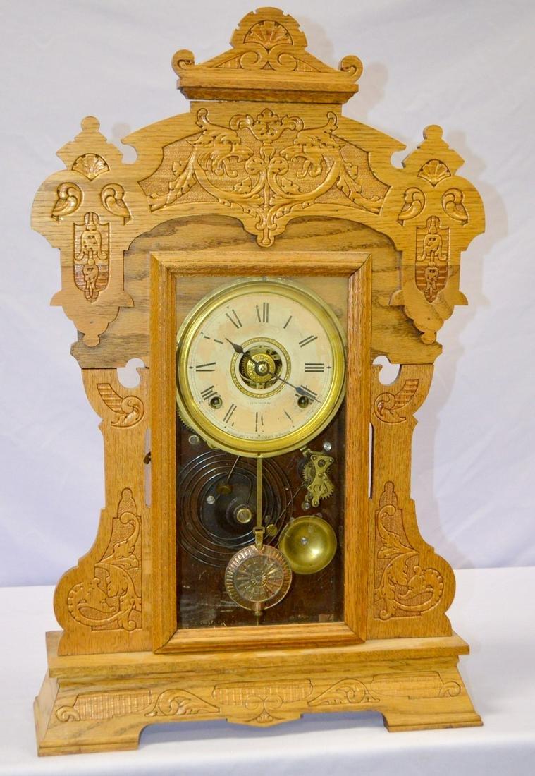 "Seth Thomas Oak ""The Giants No. 2"" Kitchen Clock. T&S"