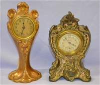 2 Metal Novelty Clocks, Seth Thomas & Waterbury: 1)
