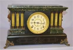 Antique Seth Thomas Mantel Clock. Adamantine finish, 6