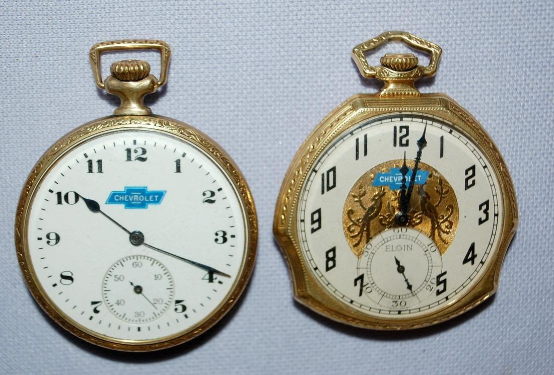 2 Elgin Chevrolet O.F. Pocket Watches. 1.) Elgin, 17J,