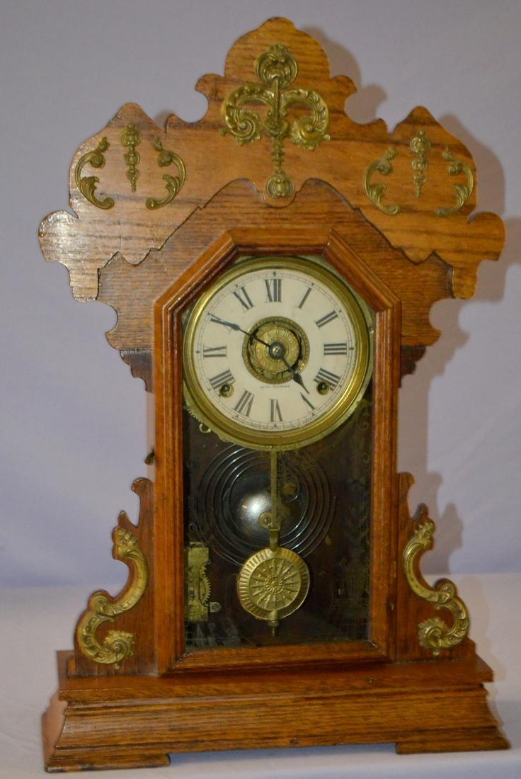Antique Seth Thomas Mantel Clock: T, S with alarm;