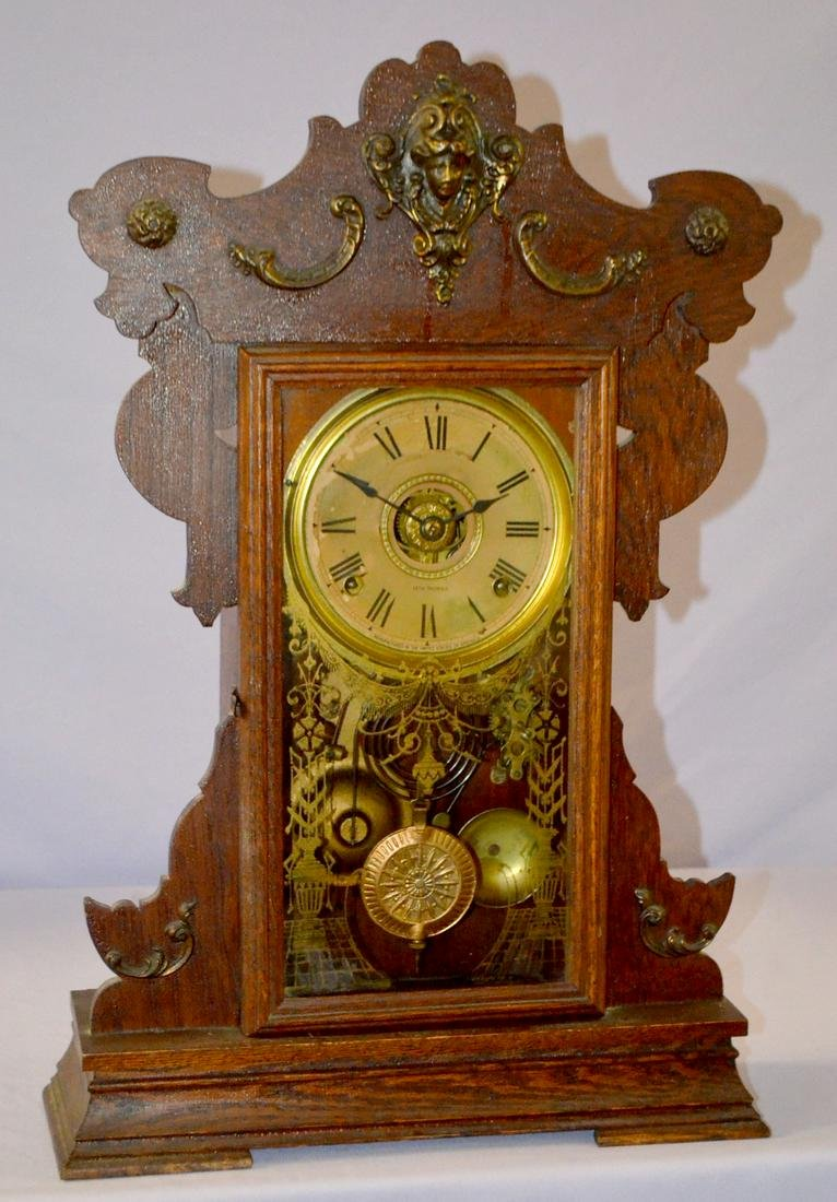"""Seth Thomas Kitchen Clock. Cathedral bell, 6"""" dial,"""