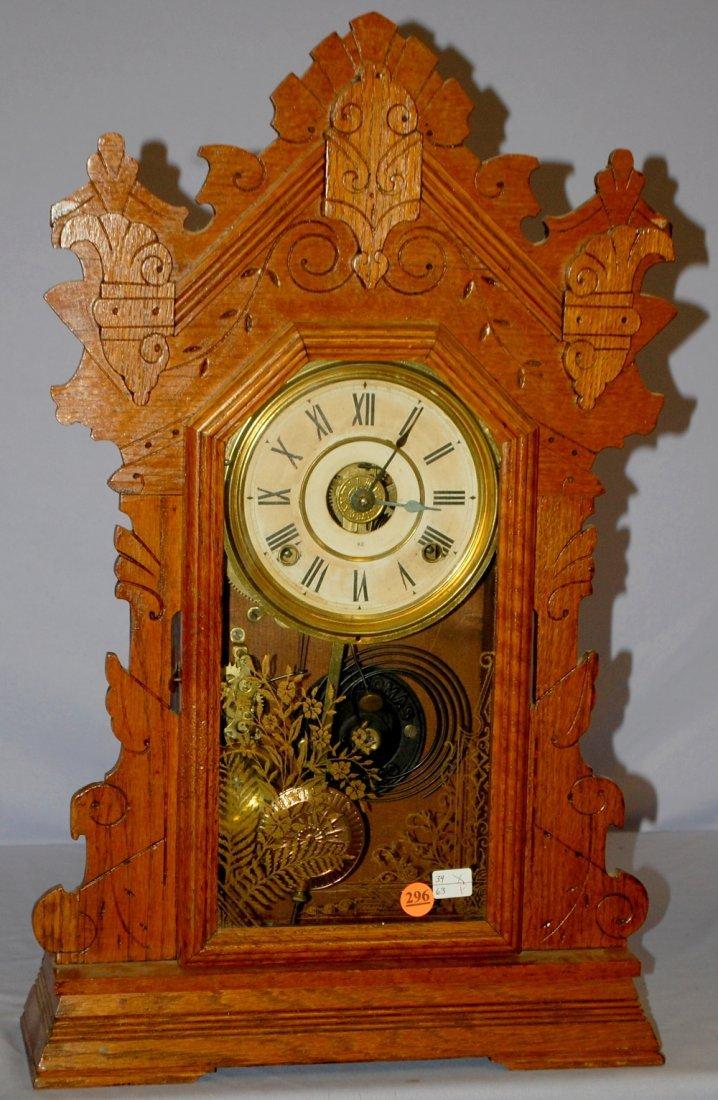 Antique Seth Thomas Oak Capital Series Kitchen Clock
