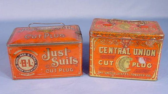 6: Central Union & Just Suits Tobacco Lunch Boxes