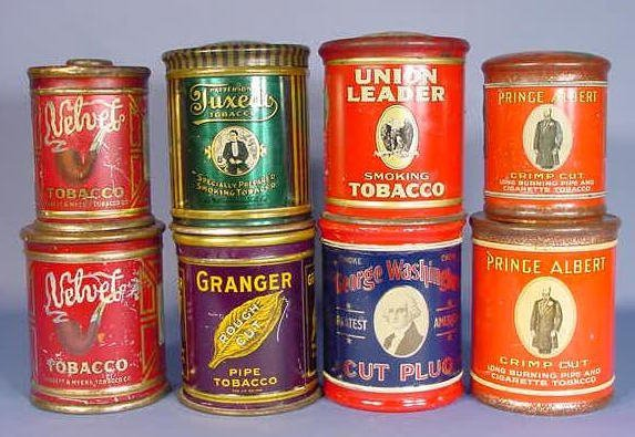 27: 8 Tobacco Cans of Similar Size