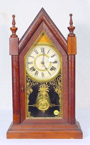 505: Ansonia Sharp Gothic V.P. Mantel Clock