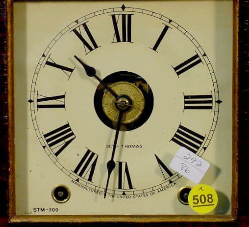 508: Seth Thomas Column Clock - 2