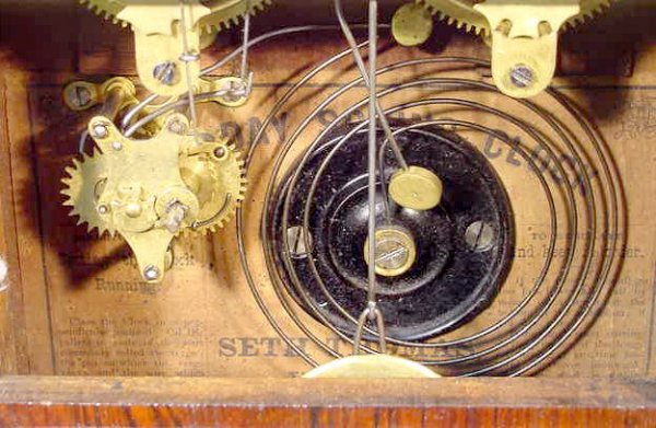 508: Seth Thomas Column Clock - 4