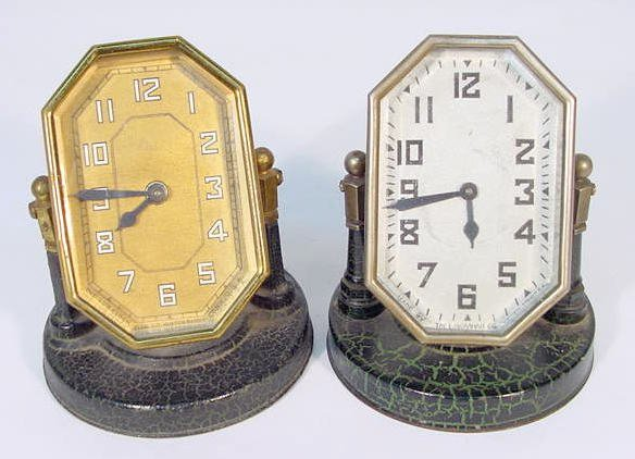 511: 2 Desk Clocks: Lux & Ingraham