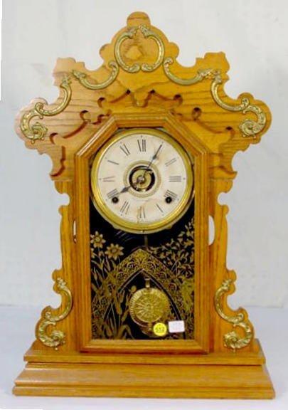 512: Seth Thomas Oak Metals No.3 Mantel Clock