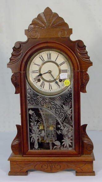 """513: Ansonia """"Equal"""" Mantel Clock in Walnut"""
