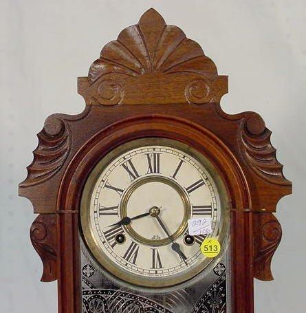 """513: Ansonia """"Equal"""" Mantel Clock in Walnut - 2"""