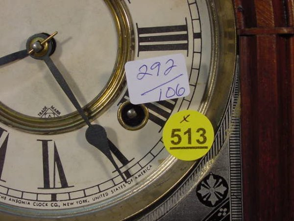 """513: Ansonia """"Equal"""" Mantel Clock in Walnut - 3"""