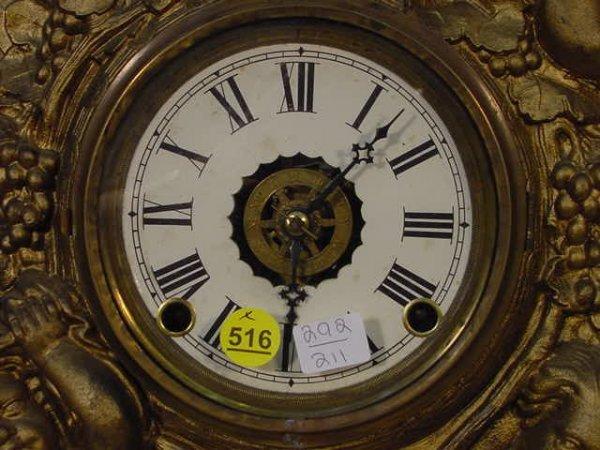 516: Muller Iron Front Bacchus Shelf Clock - 2