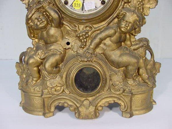 516: Muller Iron Front Bacchus Shelf Clock - 3