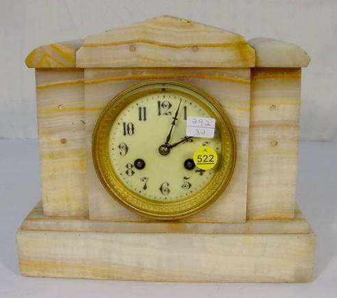 522: French Marble Clock w/Japy Freres Movement