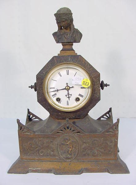 523: Seth Thomas & Sons No.8013 Spelter Shelf Clock