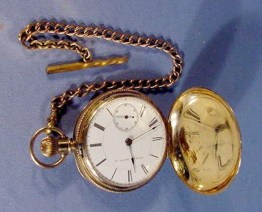 524: Illinois Miller Model Pocket Watch: S18, 18K, hunt - 2