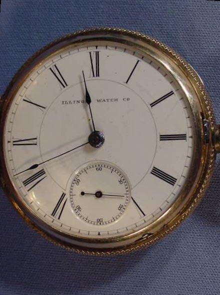 524: Illinois Miller Model Pocket Watch: S18, 18K, hunt - 3