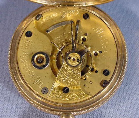 524: Illinois Miller Model Pocket Watch: S18, 18K, hunt - 7