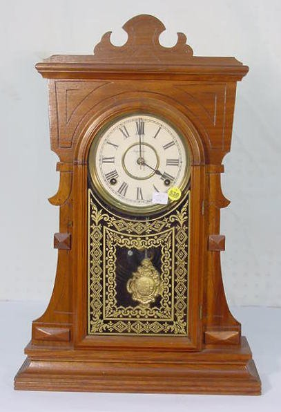 530: Ingraham Walnut Kitchen Clock
