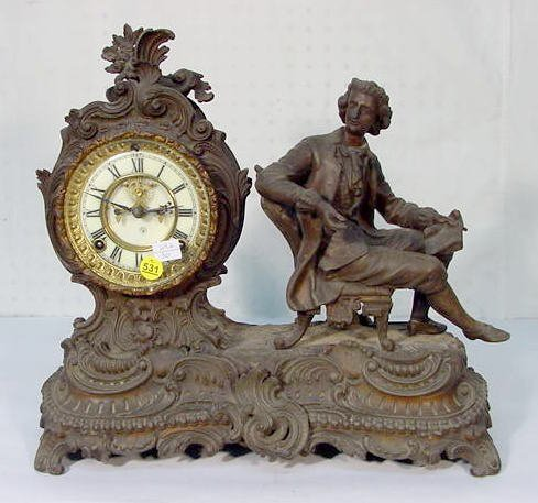 "531: Ansonia ""Composer"" Statue Clock"