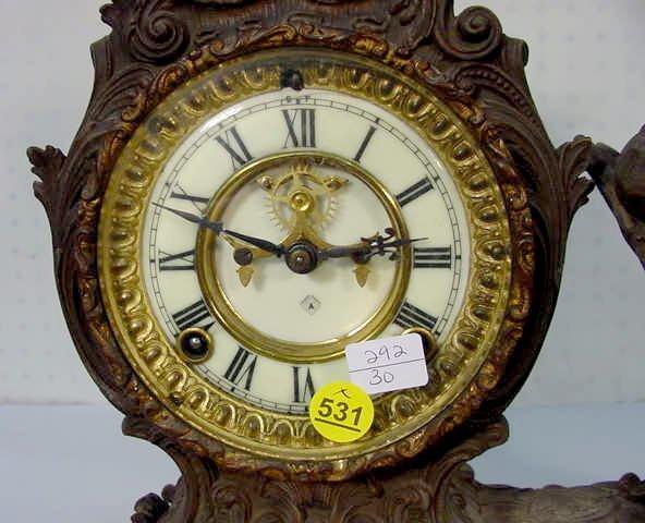 "531: Ansonia ""Composer"" Statue Clock - 2"