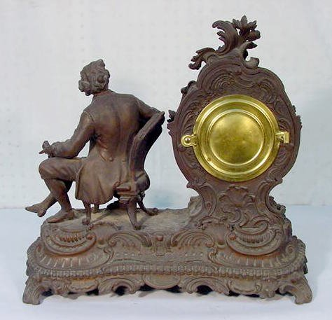 "531: Ansonia ""Composer"" Statue Clock - 3"