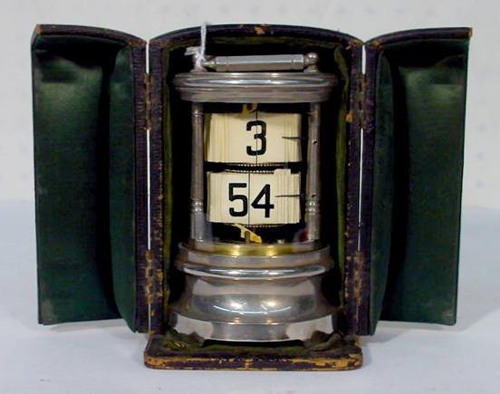 532: Plato Style Clock in Original Traveling Case