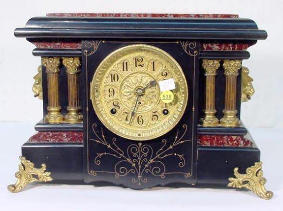 "538: Seth Thomas ""Texel"" Adamantine Mantel Clock"