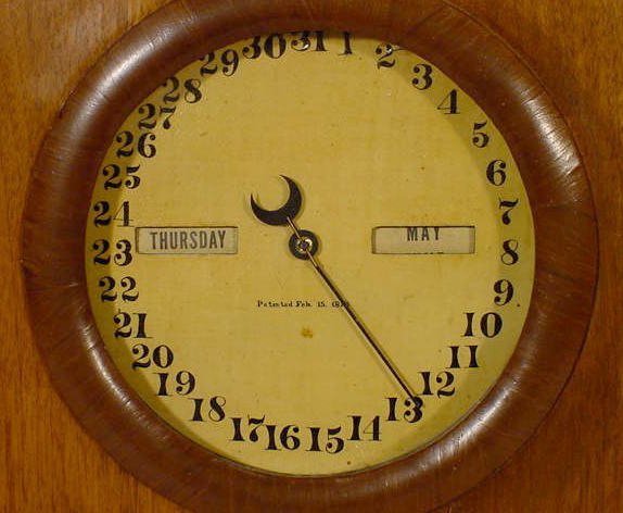 581: Seth Thomas 8 Day Parlor Calendar No.1 - 3