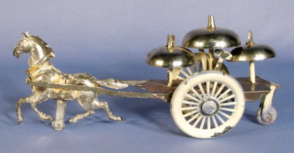 515: Tin Horse Drawn Bell Toy